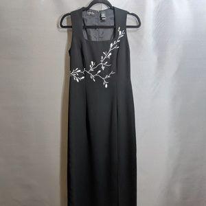 LIZ CLAIBORNE DRESS BLACK SIZE 8 PROM FORMAL